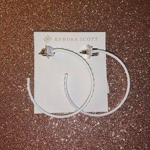 Kendra Scott White Val Hoop Earrings